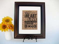 Personalized Burlap Print Wedding or by InTheDustDesigns on Etsy