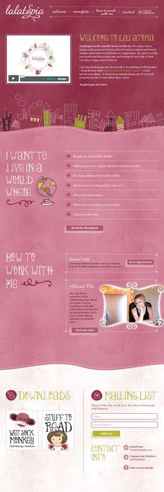 Unique Web Design, Lalatopia #WebDesign #Design (http://www.pinterest.com/aldenchong/)