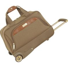 Tommy Bahama Luggage Retreat 19 Inch Wheeled Duffle Bag, Olive/Dark Brown, One Size
