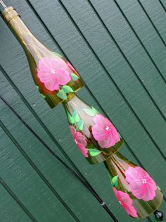 Recycled Wine Bottle Wind Chime Yard Art Patio By LindasYardArt,