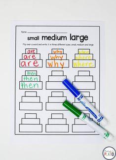Spelling Word Activities, Spelling Word Practice, Sight Word Activities, Spelling Words, Sight Words, Sight Word Wall, Handwriting Activities, Grade Spelling, Word Work Stations