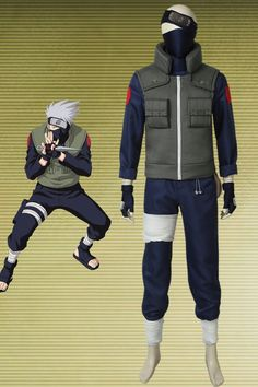 Naruto Hatake Kakashi Cosplay Costume New Style Naruto Costume Diy, Ninja Halloween Costume, Anime Cosplay Costumes, Cosplay Outfits, Anime Outfits, Halloween Outfits, Couple Halloween, Kakashi Hatake, Hinata Hyuga