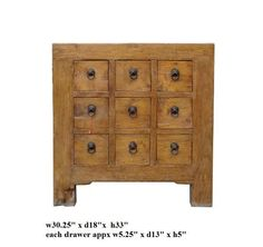 Chinese Rustic Wood 9 Drawers Side Table Cabinet Ass772 by A Small Cabinet, http://www.amazon.com/dp/B005CXU4EM/ref=cm_sw_r_pi_dp_dyqpqb0TJ9JN7