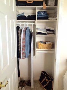 The Gardener's Cottage: super small wardrobe
