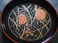 Vintage Hand Painted Metal Tray by HiveandHoneyStudio on Etsy, $20.00