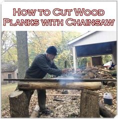 How to Cut Wood Planks with Chainsaw - Homesteading - The Homestead Survival .Com