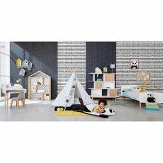 Bureau enfant en bois blanc L 70 cm Nuage | Maisons du Monde