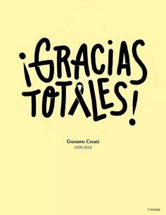 Gustavo Cerati QEPD #GraciasTotales #GraciasCerati