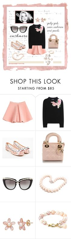 """cashmere and pearls"" by jennross76 ❤ liked on Polyvore featuring Rothko, Marina Hoermanseder, Dolce&Gabbana, Laurence Dacade, Christian Dior, Anna-Karin Karlsson and Hiho Silver"