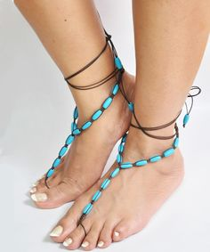 Wooden beads footsie - only on www.trinketbag.com