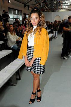 Ella Eyre at Jasper Conran - The Best Front Row Fashions at London Fashion Week…
