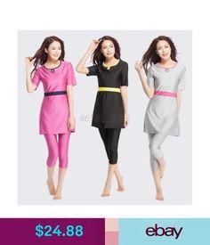642824a0bb Swimwear Women Islamic Muslim Modest Swimwear Full Cover Swimming Costumes  Beachwear Hot #ebay #Fashion