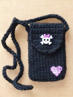 Monster High Crocheted Cell Phone Ipod  by DonnasCrochetCabin, $14.99
