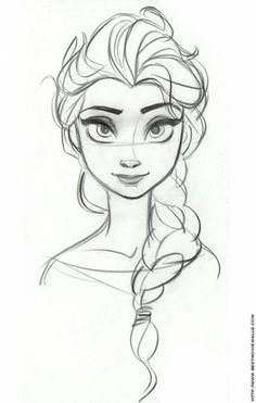 How to draw frozen characters concept sketch frozen a character design references concept draw frozen characters . Cool Drawings, Drawing Sketches, Frozen Drawings, Sketch Art, Pictures For Drawing, Good Drawing Ideas, Pencil Drawings, Face Sketch, Art Pictures