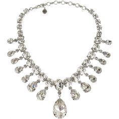 Madam Dumont rhodium-plated Swarovski crystal necklace (5.860 DKK) ❤ liked on Polyvore featuring jewelry, necklaces, colares, jewels, swarovski crystals necklace, tom binns jewelry, swarovski crystal jewellery, swarovski crystals jewelry and rhodium plated jewelry
