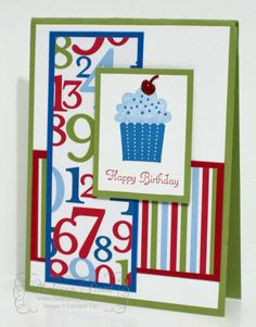 stampin up carte anniversaire