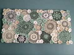 Extra large mint doily canvas by PCWCrochet on Etsy