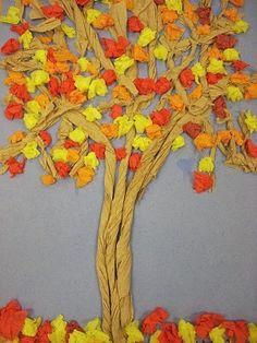 Осеннее дерево из салфеток — DEV Сайт для мам малышей