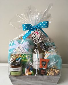 Baby Shower Gift Basket, Baby Shower Gifts, Baby Gifts, Things To Do In Kelowna, Wine Gift Baskets, Stuff To Do, Gift Wrapping, Shopping, Paper Wrapping