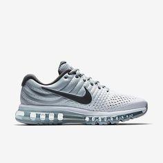 Best Seller Nike Air Max 2017 White Wolf Grey Dark Grey Sports Running Shoes Factory Get - $70.88