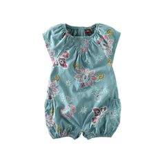 If we ever had a girl...Tea Collection's Lotus Batik Romper.  Love the flowers and butterflies on it.