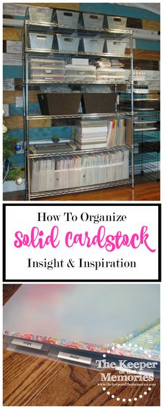 Welcome to week eight of the 52 Weeks To An Organized Workspace challenge. This week, we're organizing our solid cardstock. This should be an easy week for most of us. Solid cardstock isn't anywhere near as addictive as patterned paper. Or is it? Either way, let's get to it.