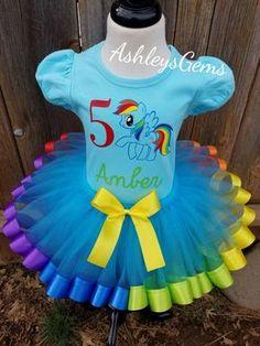 Rainbow Dash vestido tutú de Rainbow Dash mi Tutu de Pony