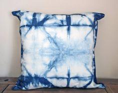 Hand Dyed Indigo Shibori Cushion Pillow Case
