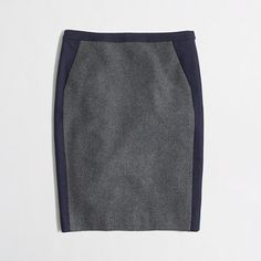 J.Crew Factory - Factory pencil skirt in tipped wool (30% off Clearance TODAY ONLY)