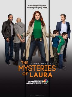 """The Mysteries of Laura (NBC-September 24, 2014) A police-procedural comedy-drama, adaption of Spanish series """"Los misterios de Laura,"""" by Carlos Vila and Javier Holgado.  Created by Jeff Rake, Vila and Holgado.  Exec. Producers; Rake, Aaron Kaplan, Greg Berlanti, Todd Lituchy and McG. Laura Diamond, homicide detective w/NYPD balances day job, off-duty hours to twin sons, while pursuing her soon-to-be ex-husband to sign divorce papers.  Stars: Debra Messing, Josh Lucas, Janina Gavankar…"""
