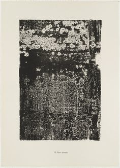 Jean Dubuffet. Chinese Wall (Mur chinois) from the portfolio Continuation of Inventory (Suite d'inventaire) from Phenomena (Les Phénomènes)....