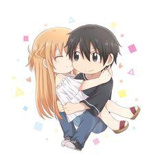 Chica Anime Manga, Anime Chibi, Kawaii Anime, Kirito Kirigaya, Kirito Asuna, Sword Art Online Wallpaper, Sword Art Online Kirito, Illustrations And Posters, Character Concept