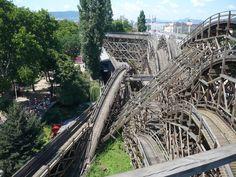 Hullamvasut Varosliget Budapest Hungary, Roller Coaster, Brooklyn Bridge, Old Photos, Coasters, History, Travel, Old Pictures, Historia