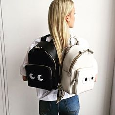 The eyes mini backpack coming soon for #Resort2016 and available to pre-order now from @modaoperandi #AnyaHindmarch by anyahindmarch. bag, сумки модные брендовые, bags lovers, http://bags-lovers.livejournal