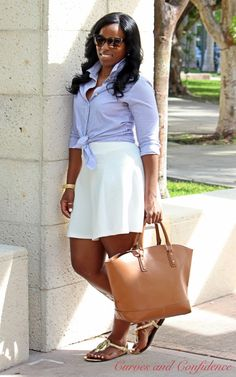 Curves and Confidence | @justfabonline | @target | White Skater Skirt | Weekend Wear | #CurvyFashion |