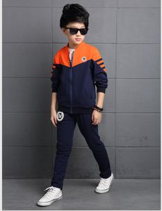 Splice big child autumn boy kids a set Polo T Shirts, Kids Shirts, Kids Boys, Ale, Personality, Bomber Jacket, Autumn, Children, Jackets