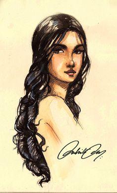 Arianne Martell by duhi, via deviantart