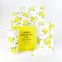 style: lemons Put a little pep in your work day, study session or errands-running with this large spiral notebook in a fresh-squeezed print. With 160 lined pages, it's unabashedly up for the job. - 16
