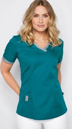 Schlupfkasack mit Farbdetails - Kasacks, Kittel & Schürzen - Berufsbekleidung - Damen 7days jobwear