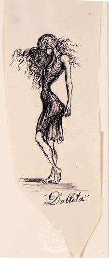 """Dullita"". Ilustración para la primera edición de ""The Secret Life of Salvador Dalí""-1939/41 - Tinta sobre papel"