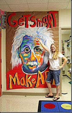 getsmartmakeart - I think I need this in my classroom or outside my classroom in the hall!