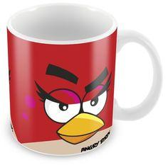 Caneca Personalizada Angry Birds Vermelho Fêmea
