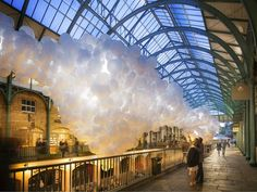 Covent Garden market will soon be filled with 100,000 glowing white balloons - News - Art - The Independent