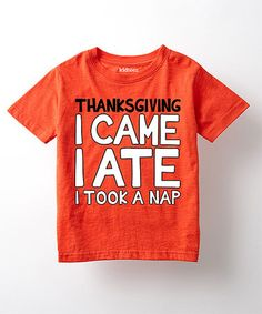 Love this Orange 'I Came, I Ate' Tee - Toddler & Kids on #zulily! #zulilyfinds