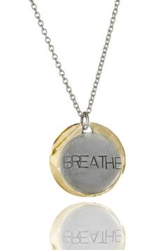 Breathe Necklace. A great reminder for those time when you hold your breath! Inspirational, Motivational, Scuba, Yoga, Zen... Use it all the time!