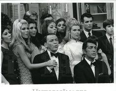 1967 Press Photo Deana, Gail, Claudia, Dean, Ricci, Dino, Frank and Craig Martin