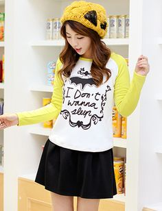 Colligate Letter Printed Raglan Sleeve Tee For Women | Item Code 726566 at M.EastClothes.com