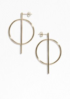 & Other Stories Geometric Shapes Earrings ($25) / Color: Gold