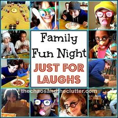 Family Fun Night for Laughs - the Bag Game, the Flour Game and a very creative way to eat spaghetti!