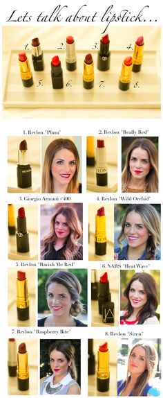 Various dark lipstick shades